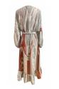 Fluid Marble Dress - Mermer Desenli Elbise