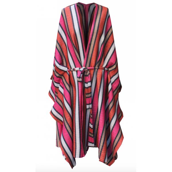 Marshmellow Kaftan Dress -  Renkli Çizgili Pilise Jarse Kaftan + Elbise Marshmellow Kaftan Dress -  Renkli Çizgili Pilise Jarse Kaftan + Elbise