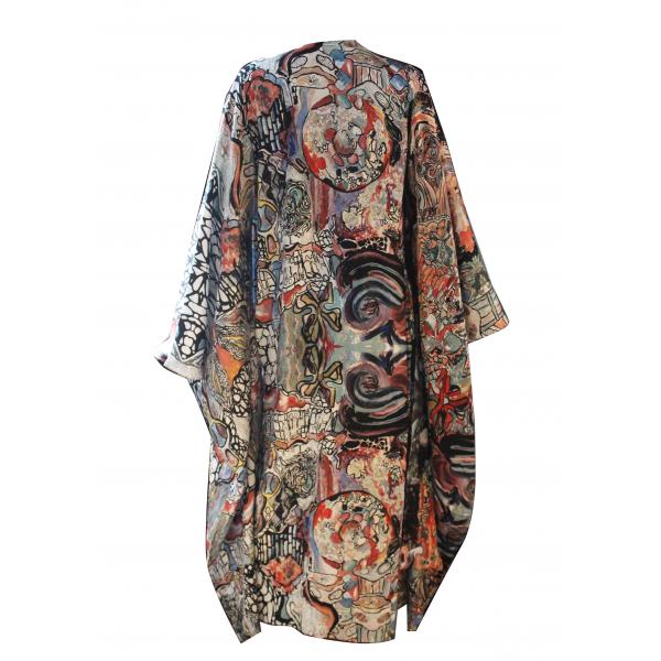 Gaudi Kimono Silk Dress - Gaudi Kimono İpek Elbise Gaudi Kimono Silk Dress - Gaudi Kimono İpek Elbise