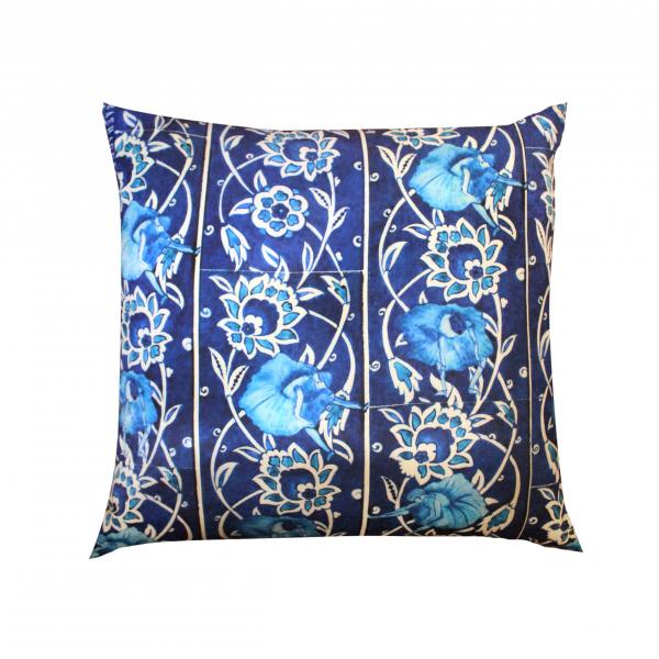 Blue Tile 50x50 Saten Yastık