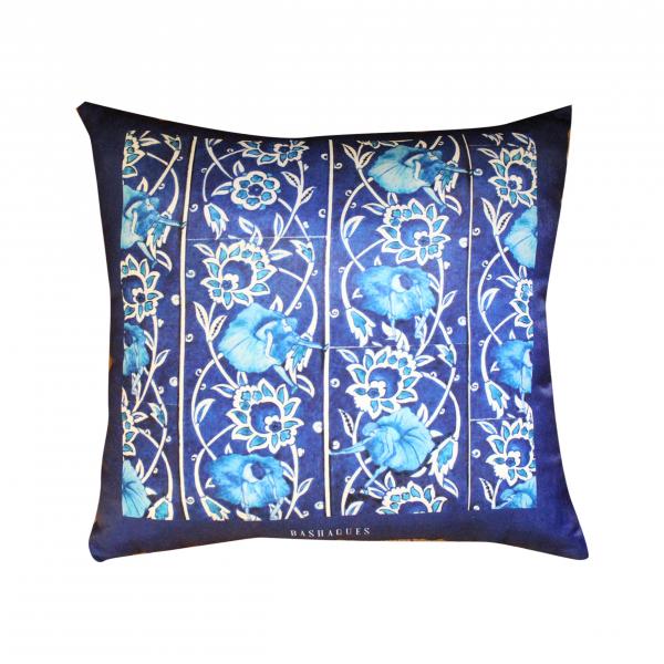 Blue Tile 45x45 Saten Yastık