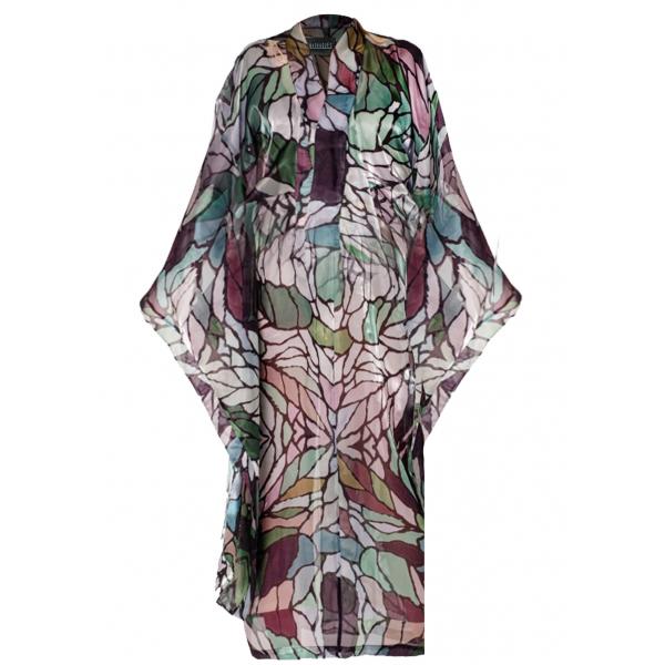 Stained Glass Kimono - Organze Vitray Desenli Üzeri Akrilik Boyalı Kimono Stained Glass Kimono - Organze Vitray Desenli Üzeri Akrilik Boyalı Kimono