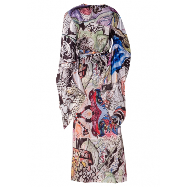 Black Duck Kimono Elbise