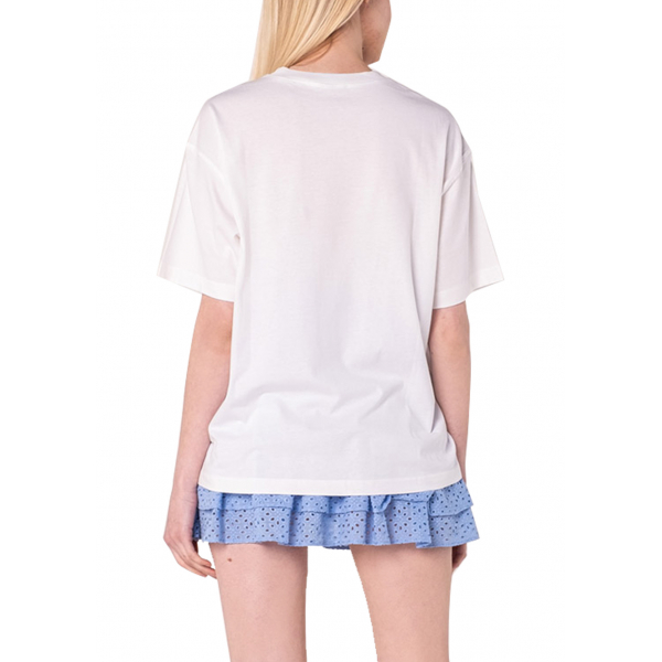 Tile Quilt Tshirt - Çini Desenli Yorgan Detaylı Beyaz T-Shirt Tile Quilt Tshirt - Çini Desenli Yorgan Detaylı Beyaz T-Shirt