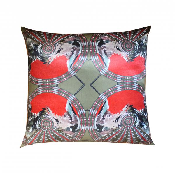 Khaki Dreamy Tile Series 50x50 Saten Yastık Khaki Dreamy Tile Series 50x50 Saten Yastık