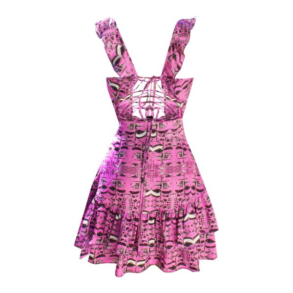 Candy Eye Arkası Bağlamalı Fırfırlı Elbise