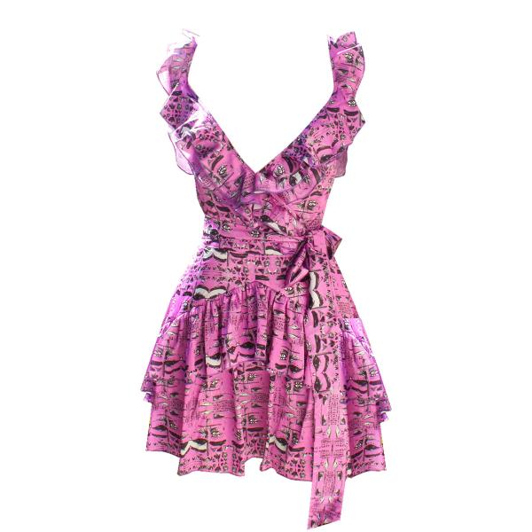 Candy Eye Arkası Bağlamalı Fırfırlı Elbise Candy Eye Arkası Bağlamalı Fırfırlı Elbise