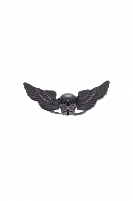 Urban Queen Siyah Rhodium Skull Luca Yüzük