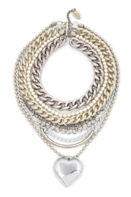 Aypen Accessories Pearl Heart Beads Chains