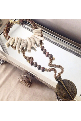 Aypen Accessories Vintage White Coral Beads