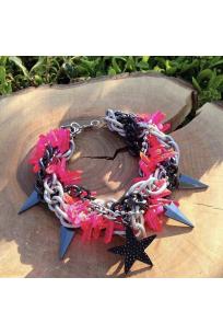 Pink Quartz Star Beads