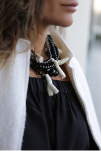 Black&White Coral Beads