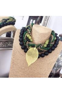 Green Leaf Beads