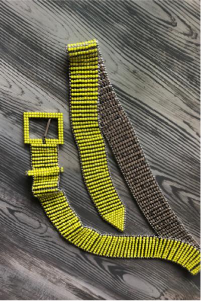 Belt Yellow Shine Belt Yellow Shine