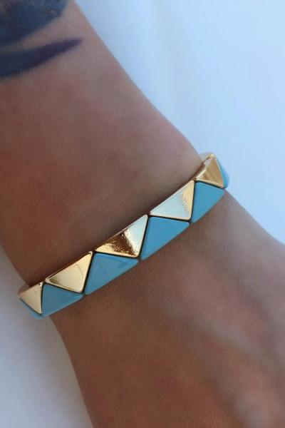 Triangle Blue Bileklik