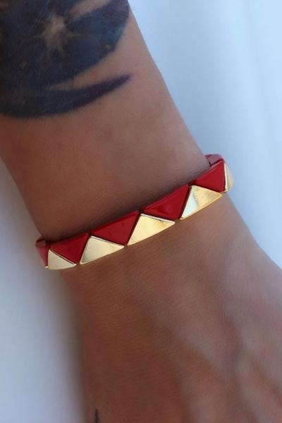 Triangle Red Bileklik