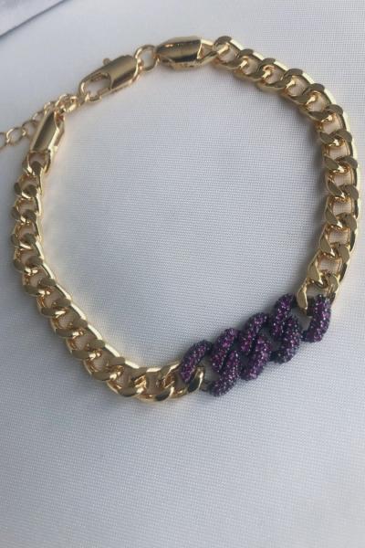 Grace Purple Bileklik