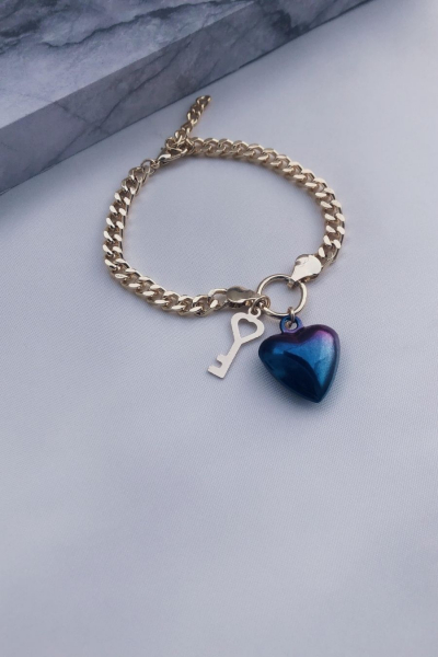 Heart of Galaxy Gold Blue Heart of Galaxy Gold Blue
