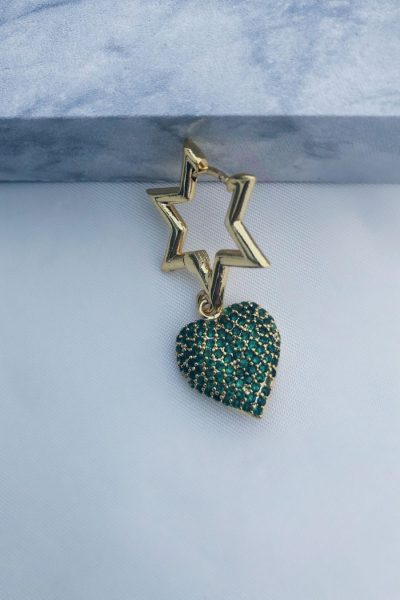 Green Love Star Küpe