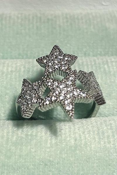 Four Stars Silver Yüzük