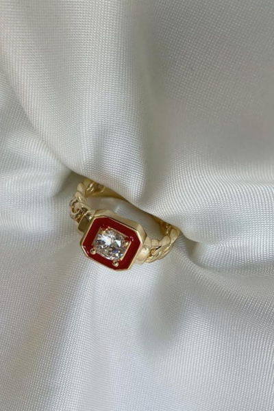 Red Diamond Ring Red Diamond Ring