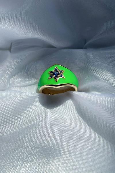 Reina Green Ring