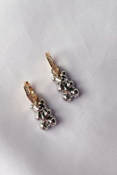 Silver Bear Earring