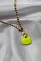 Neon Yellow Love Kolye