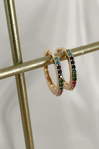 Color Hoop Earring Color Hoop Earring