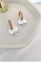 Hope White Earring
