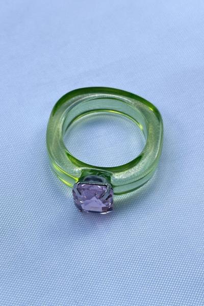 Nilky Crystal Green Ring