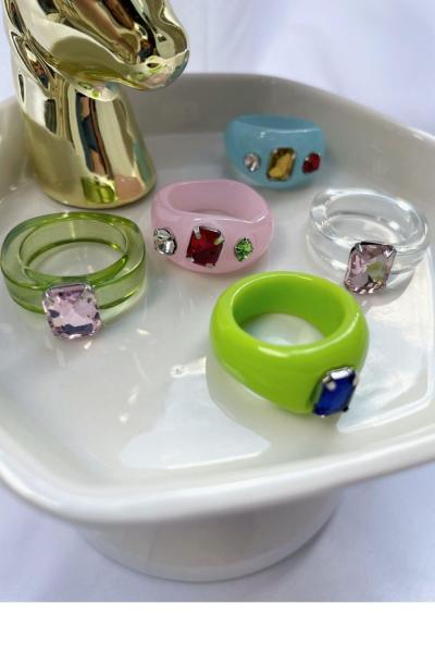 Nilky Crystal White Ring