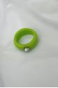 Nilky Green White Stone Ring