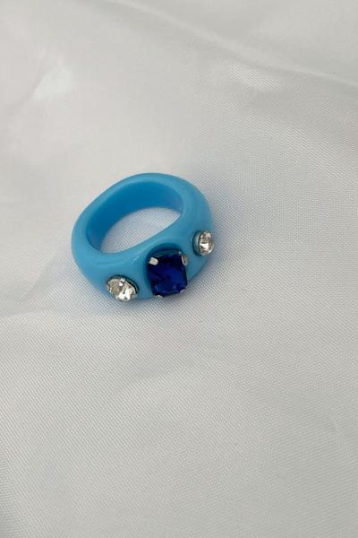 Nilky Blue Stone Ring