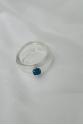 Nilky Crystal White Blue Stone