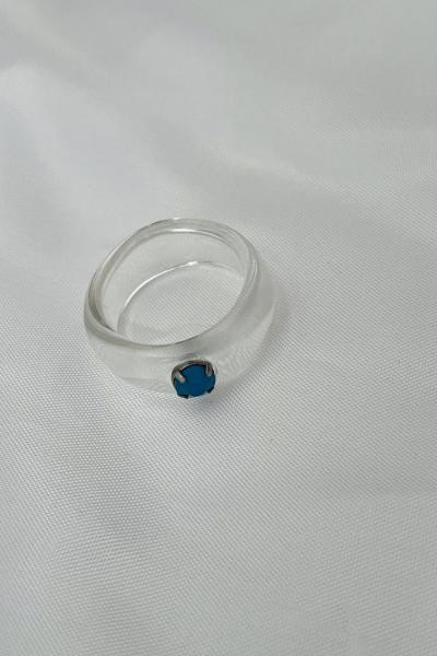 Nilky Crystal White Blue Stone Nilky Crystal White Blue Stone