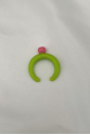 Nilky Green Pink Top Ring