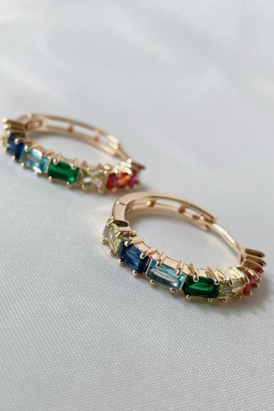 Rainbow Gold Earring  Rainbow Gold Earring