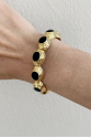 Black Buttons Bracelet