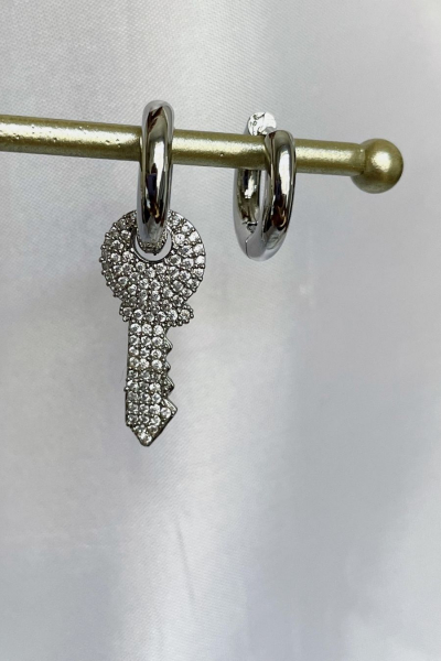 Silver Key Earring Silver Key Earring