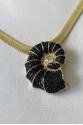 Black Snail Necklace
