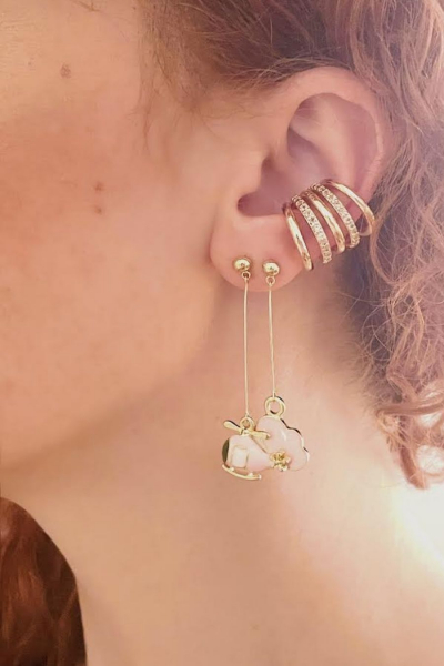 Pinky Heli Earring