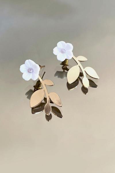 White Flower Earring