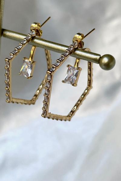 Penta Diamond Earring