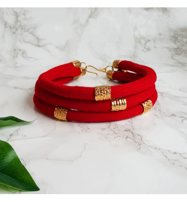 Fabricca Design Red Love Miel Choker Kolye