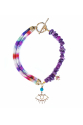 Eye of Horus Necklace in Purple