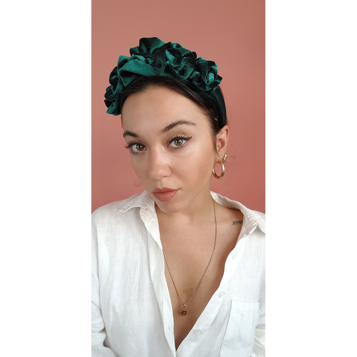 Velvet Headtrend in Green