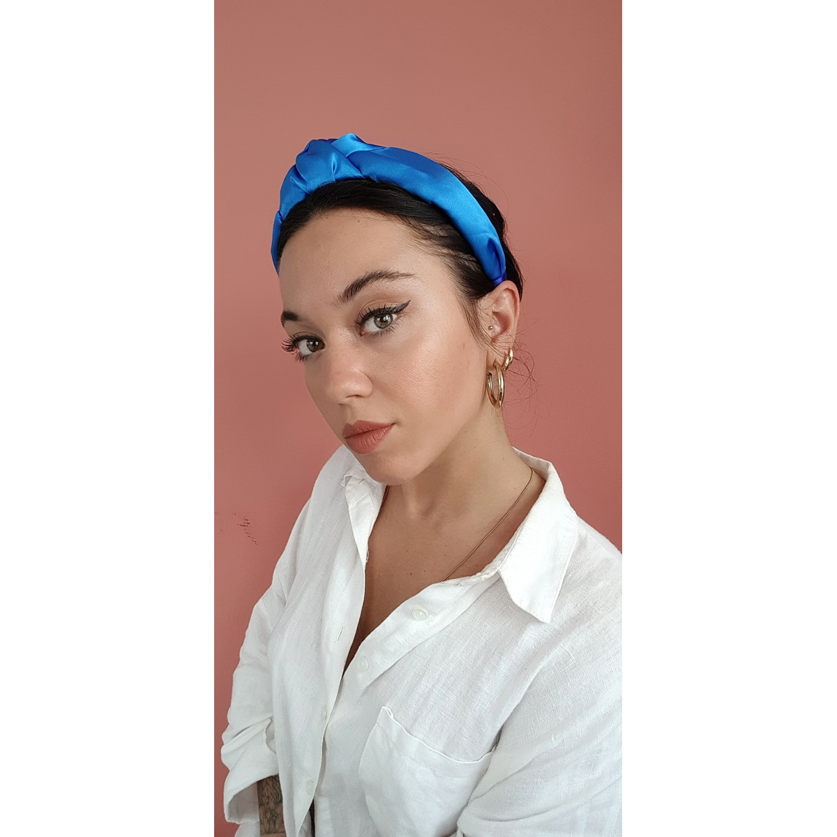Satin Headtrend in Blue