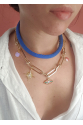 Denim Necklace Shi