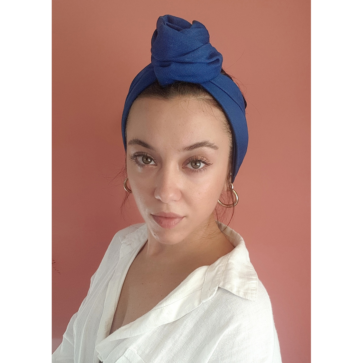 Denim Headwrap Wu